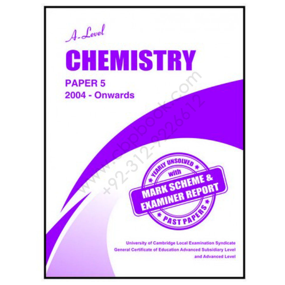 a level chemistry paper 5 yearly unsolved past papers 2004 - june 2016