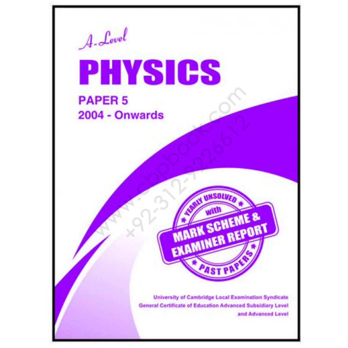 A Level PHYSICS Paper 5 Yearly Unsolved with Mark Scheme From 2005 - Nov  2018