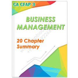 ca cfap 3 business management 20 chapters summary