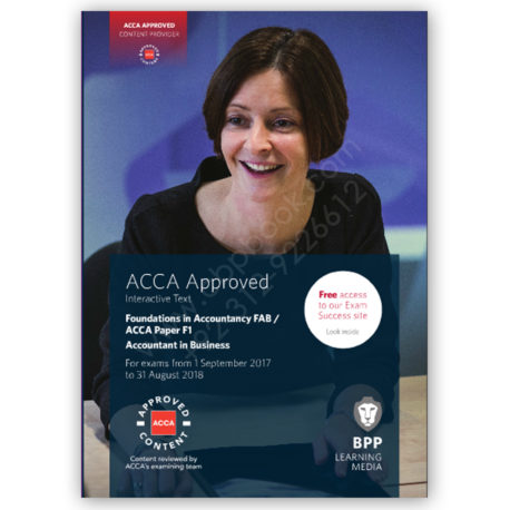 fia fab acca paper f1 accountant in business study text 2017 2018 bpp