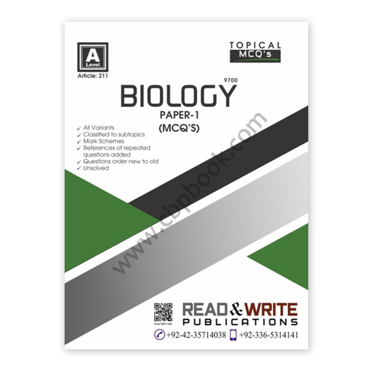 a level biology paper 1 topical mcqs (art#211) - read & write