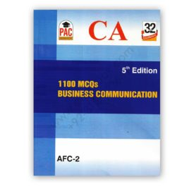 ca afc 2 1100 mcqs business communication 5th edition - pac