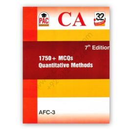 ca afc 3 1750+ mcqs quantitative methods 7th edition - pac
