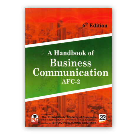 CA AFC 2 A Handbook of Business Communication 6th Edition PAC