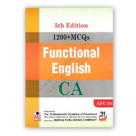 ca afc 1 1200+ mcqs functional english 5th edition 2019 pac ishfaq publishing