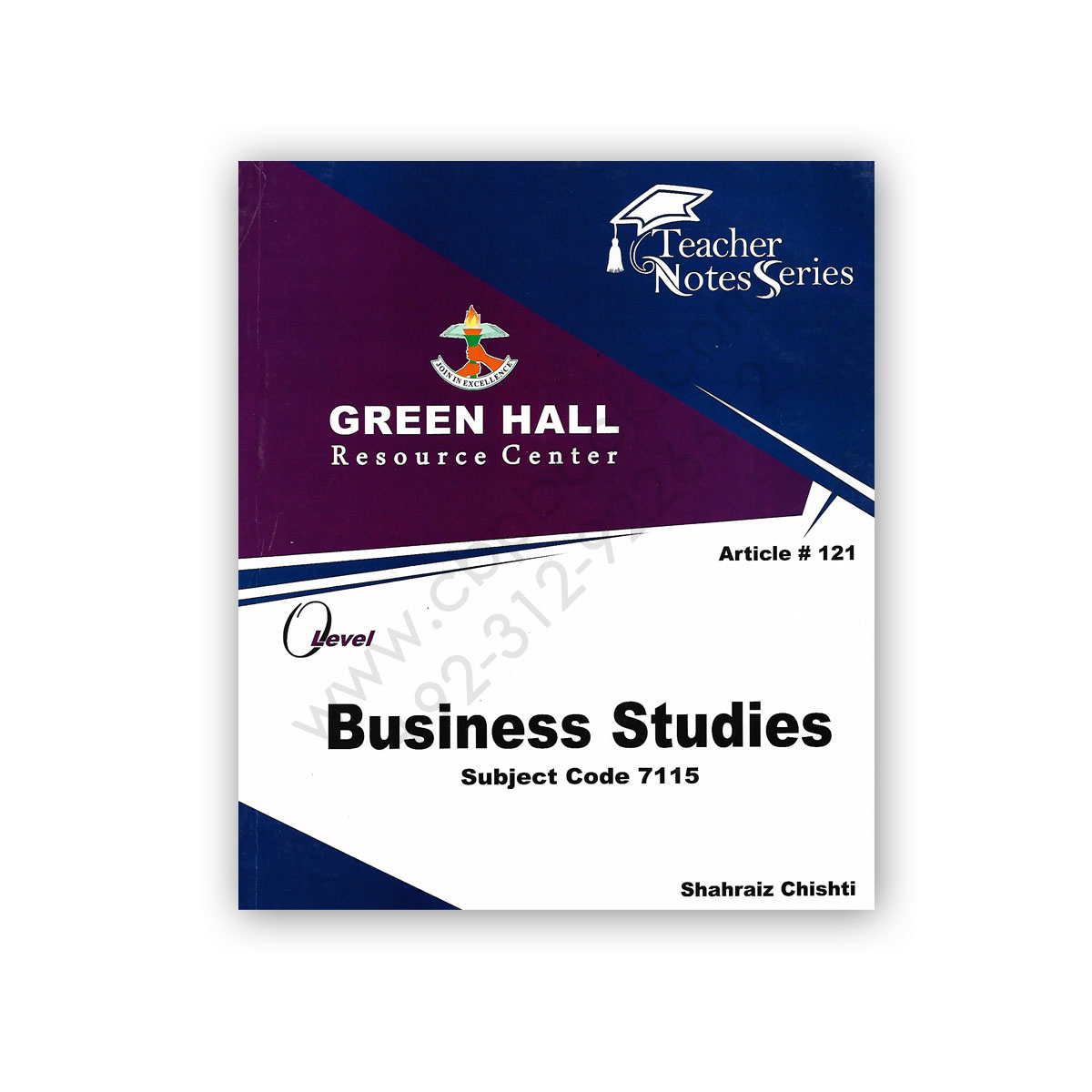 O Level BUSINESS STUDIES Notes By Shahraiz Chishti (Art#121) – Green Hall