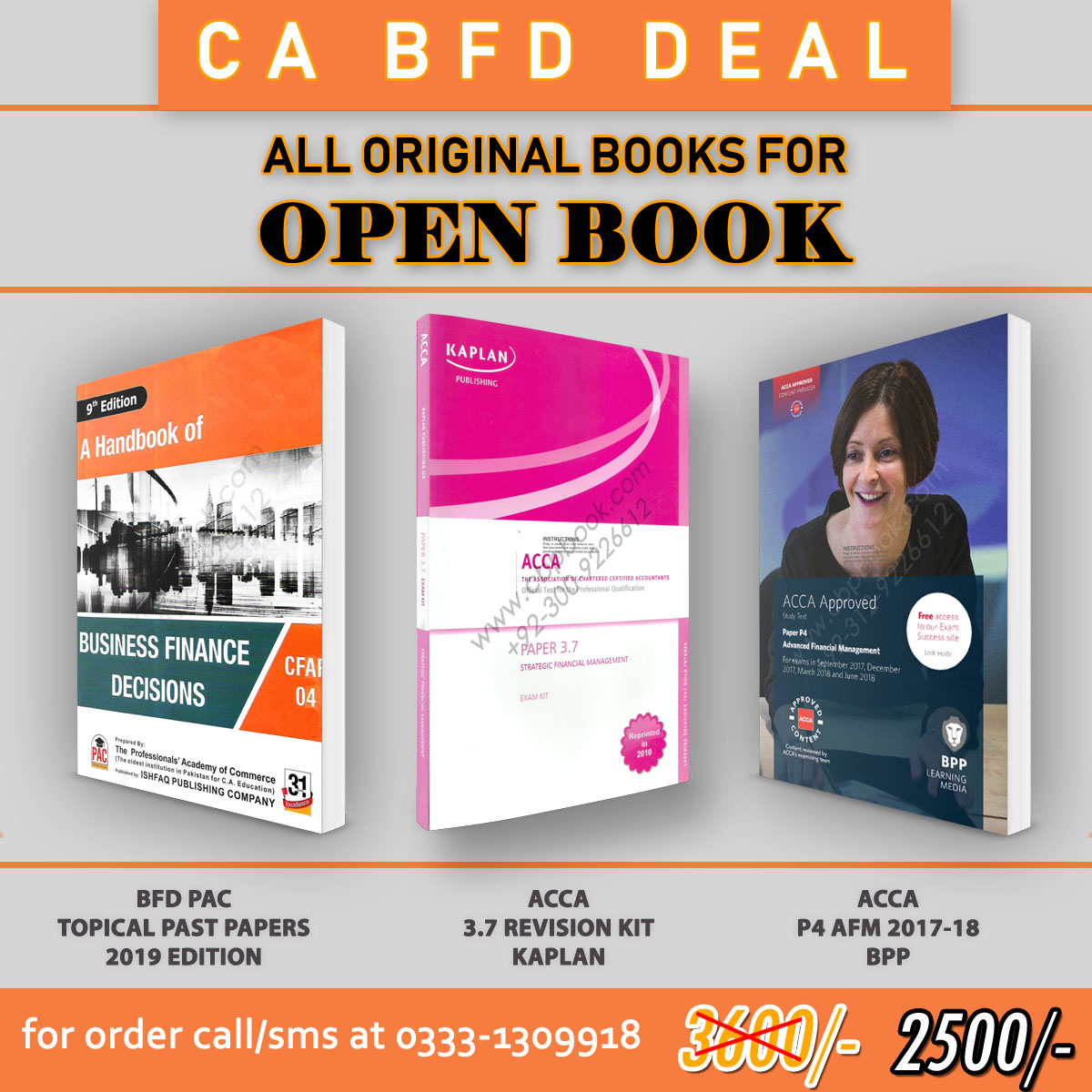 CA CFAP-4 BFD DEAL (BFD PAC/ACCA P4/3 7 KIT) All Original Books For Open  Book