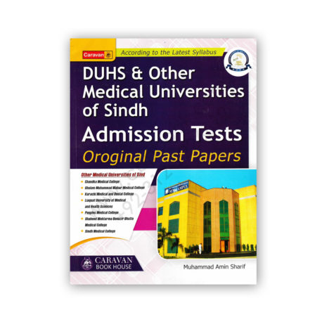 DUHS & Other Medical Admission Tests Past Papers By M Amin Sharif - CARAVAN