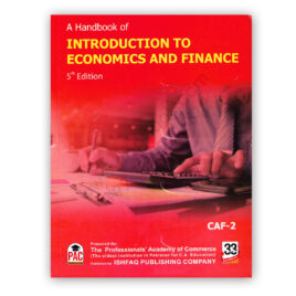 CA CAF 2 Introduction To Economics & Finance 5th Edition 2020 - PAC