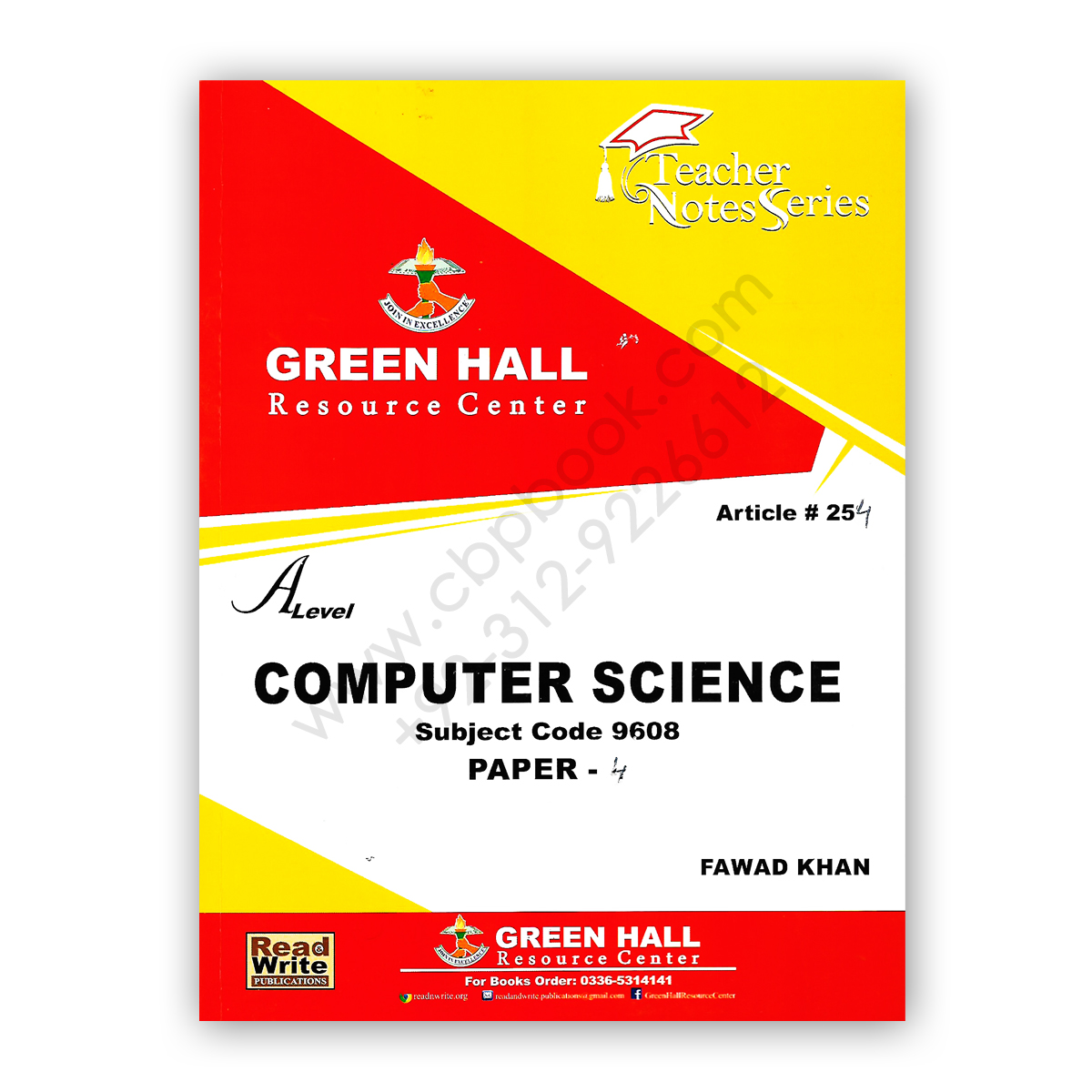a level computer science p4 by fawad khan (art#254) - green hall