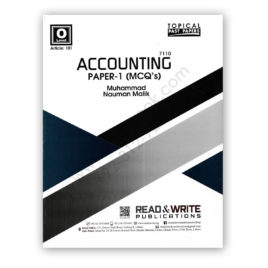 O/L ACCOUNTING P1 MCQs By M Nauman Malik (Art#101) – Read & Write