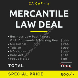 CA CAF 3 MERCANTILE LAW DEAL (6 BOOKS)
