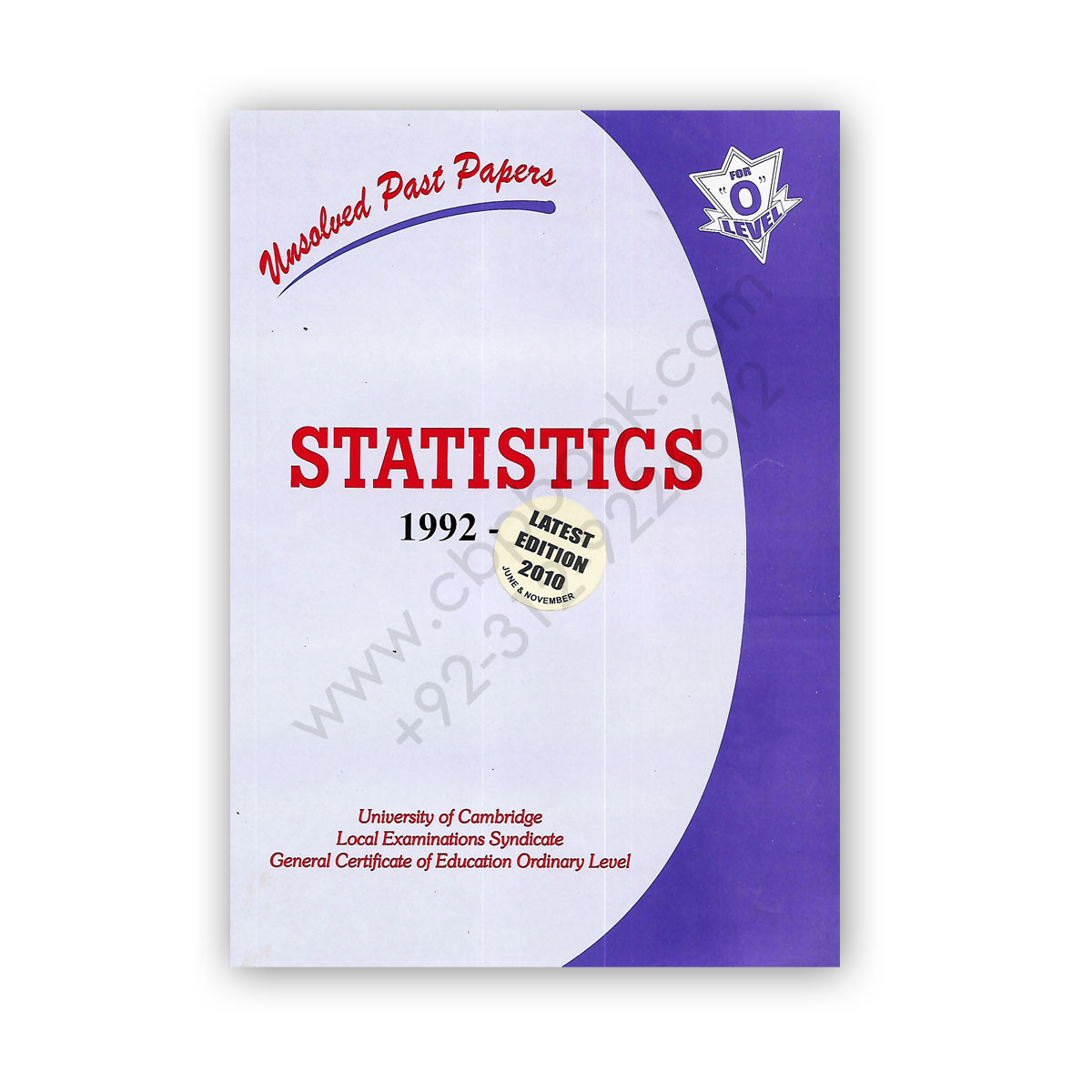 o level statistics unsolved past papers paper 1 & 2 from 1992 - nov 2012 - fp