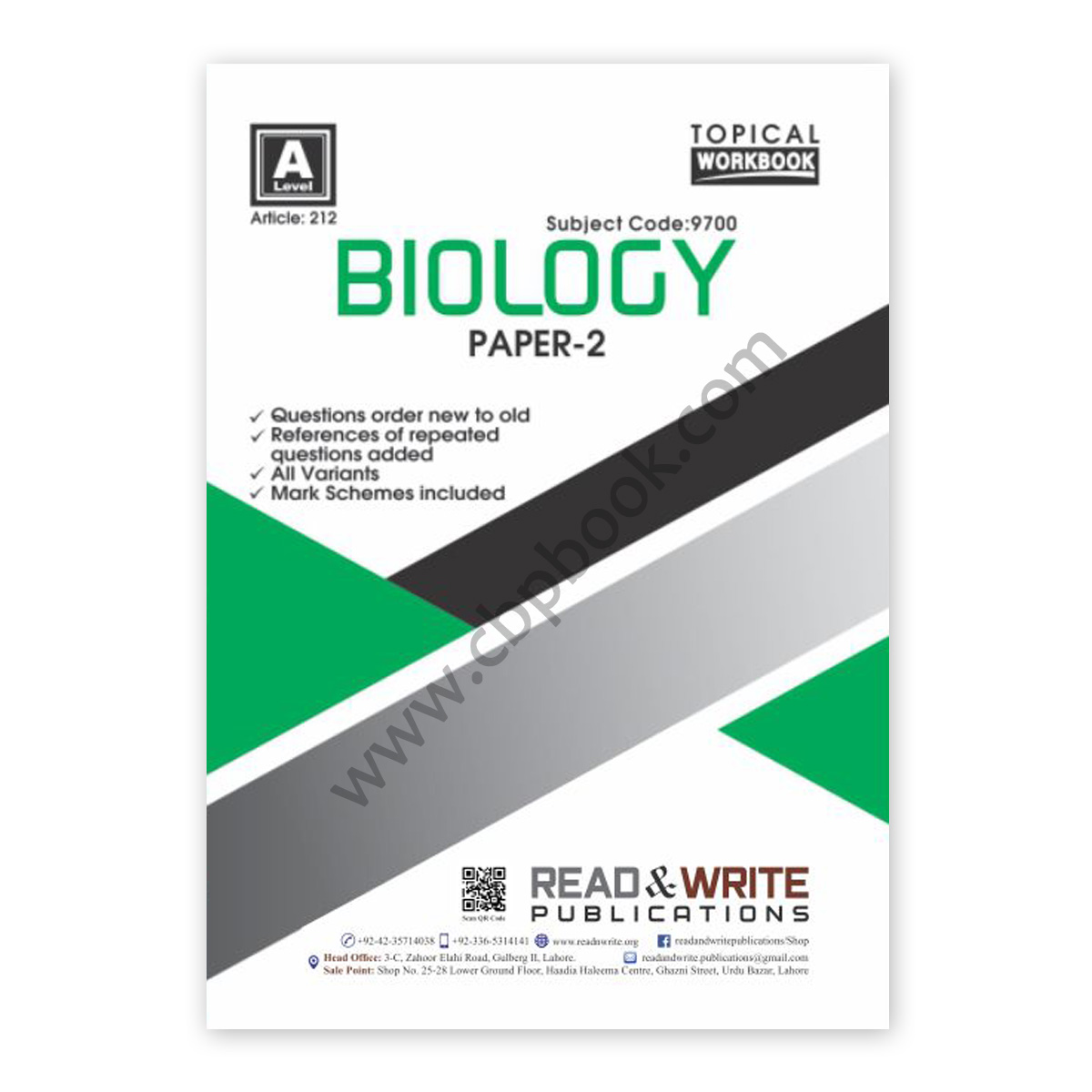 a level biology paper 2 topical workbook (art#212) - read & write
