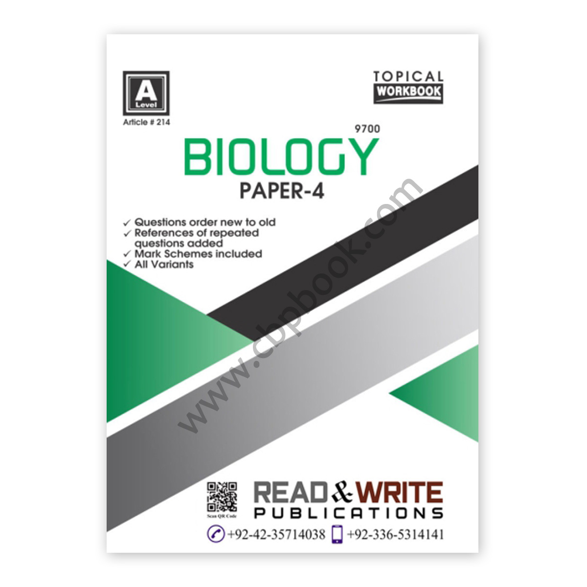 a level biology paper 4 topical workbook (art#214) - read & write