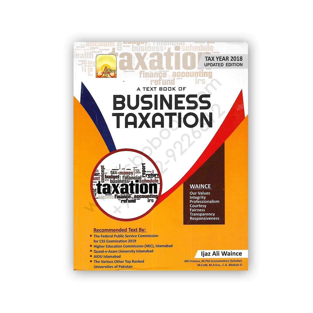 a text book of business taxation tax year 2018 by ijaz ali waince