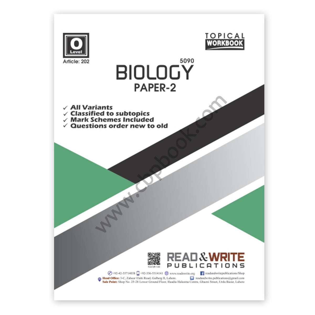 o level biology paper 2 topical workbook (art#202) - read & write