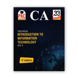 `CA AFC 4 1000 MCQs Introduction to Information Technology 6th Edition PAC