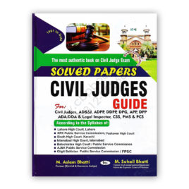 Solved Papers Civil Judges Guide 2nd Edition 2020 By M Aslam Bhatti - Bhatti Sons