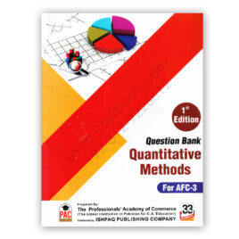 CA AFC 3 Quantitative Methods Question Bank 1st Edition PAC