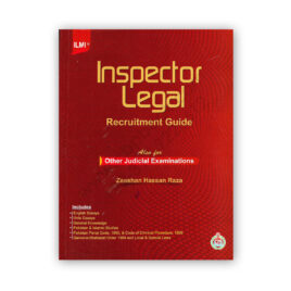 Inspector Legal Recruitment Guide By Zeeshan Hassan Raza ILMI