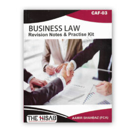 CA CAF 3 Business Law 2021 Edition By Aamir Shahbaz - The Hisab